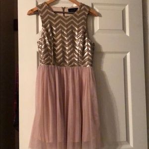 Champagne colored sequin dress